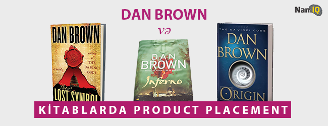 Dan Brown və kitablarda product placement